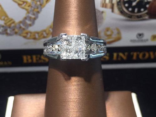 10K WG 2.0Ct. Diamonds Engagement Ring #100213