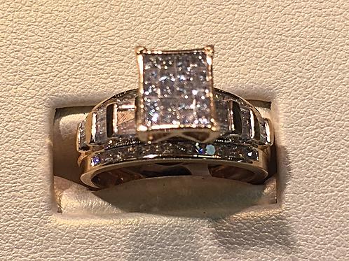 10k gold 1.00 ct diamond ring tag# 302849