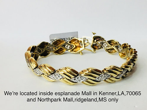 10K YELLOW GOLD 1.50CT DIAMOND FEMALE BRACELET