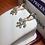 Thumbnail: 10k YG 0.33ct Diamonds Ladies Fleur-di-lis Earrings # 301609   Online Offer Only