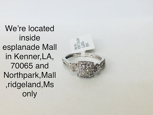 14K WHITE GOLD 0.50CT DIAMOND FEMALE RING