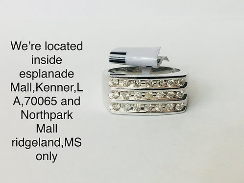 10K WHITE GOLD WITH 0.50CT DIAMOND MALE BAND
