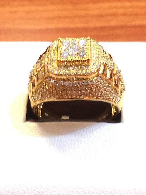 10K Y.Gold Diamond men Ring