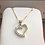 Thumbnail: 10k yg cz stone ladies heart shaped charm 303606