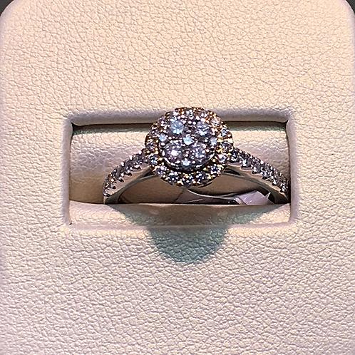 14k white gold 0.75 ct diamond ring #300346