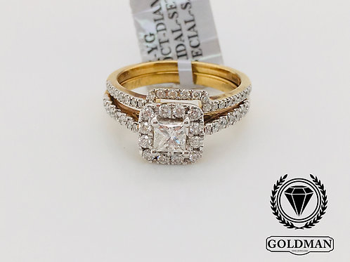 14K YELLOW GOLD 1.00CT DIAMOND BRIDAL SET ON SALE