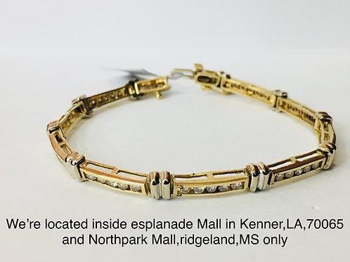 10K YELLOW GOLD 2.00CT DIAMOND FEMALE BRACELET