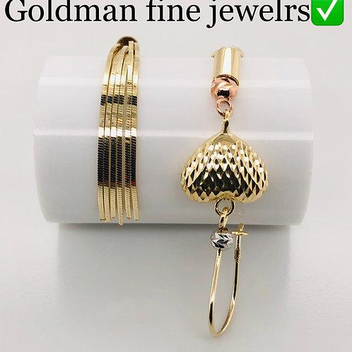 14k yellow gold female earrings
