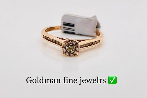 14k Rose Gold 0.22ct Diamond Ring #302134