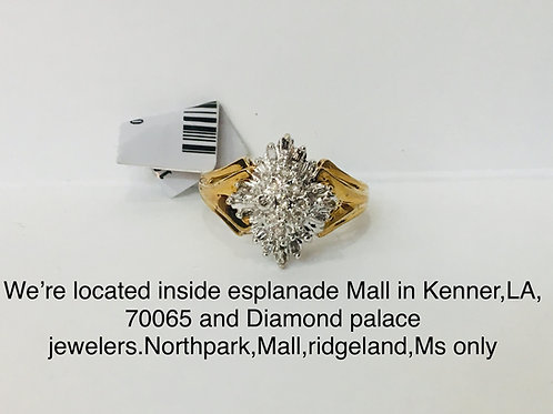 10K Yellow gold 0.40CT diamond female ring
