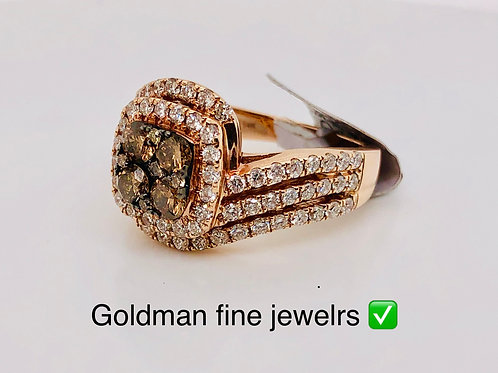 14k rose gold 2.00ct diamond bridal ring