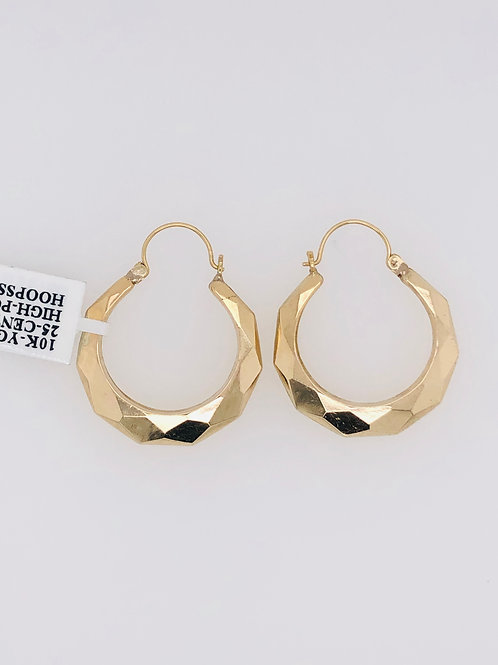 10K 25C SIZE GOLD HOOPS