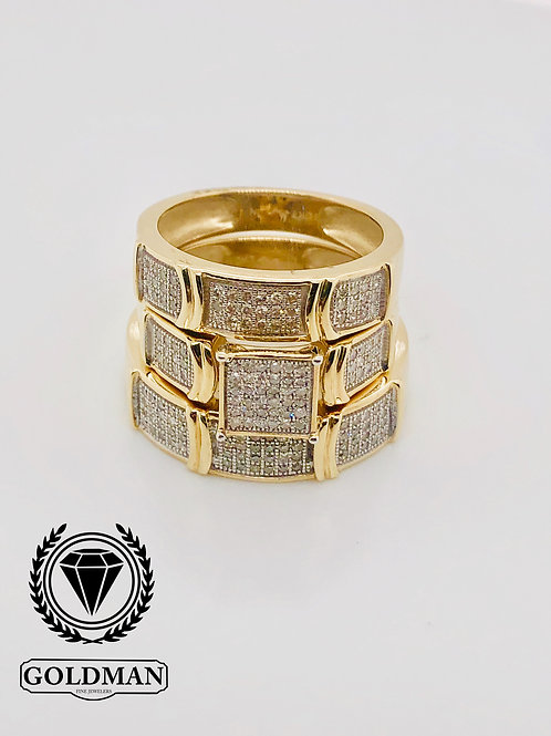 10K YELLOW GOLD 0.50CT DIAMOND TRIO SET