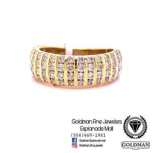 10K YELLOW GOLD 1.75CT DIAMOND MENS RING ON SALE