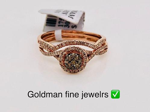10K ROSE GOLD 0.35CT CHOCOLATE DIAMOND SET OF TWO BRIDAL SET