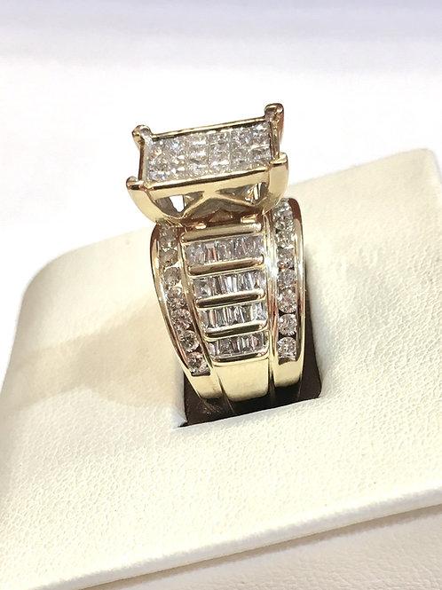 Ladies engagement/wedding Cinderella collection ring