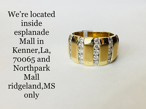 14K YELLOW GOLD WITH 1.50CT DIAMOND BAND