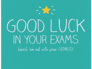 Goodluck students who's having Exams this week.