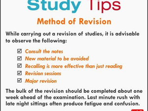 Exam is around the corner, this are those tips for you !
