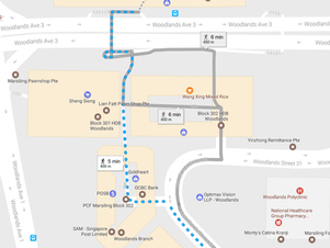 Finding your way to EduZ Tuition (Woodlands)
