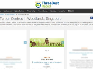 WE ARE ONE OF THE TOP 3 TUITION CENTRES IN WOODLANDS, AGAIN!