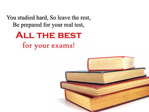 To all P6 students taking PSLE and J1 students taking promo exams!