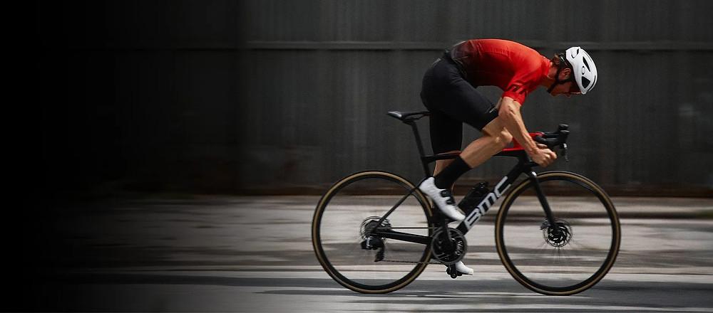 Biker with helmet