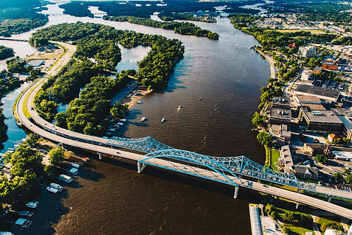 "12x18"" Print Mississippi River Bridges 5"