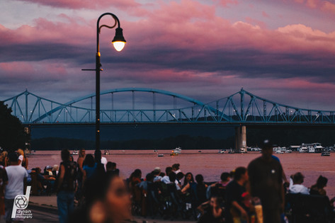 Mississippi Bridge Sunset