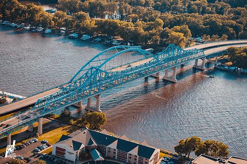 "12x18"" Print Mississippi River Bridges 4"