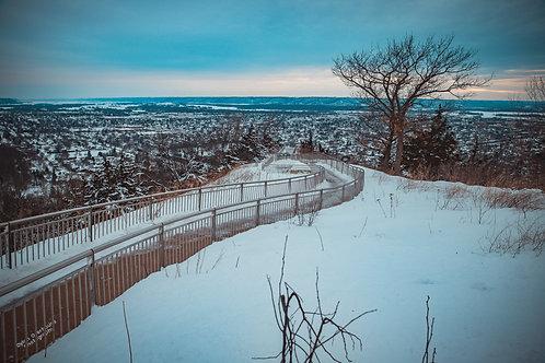 "Grandads Winter Path 12x18"" Framed"