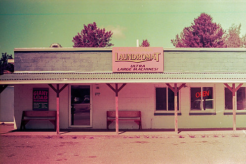 Canvas Laundromat. LomoChrome Purple