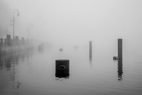 """Riverside Park Fog 1 12x18"""" Framed"""