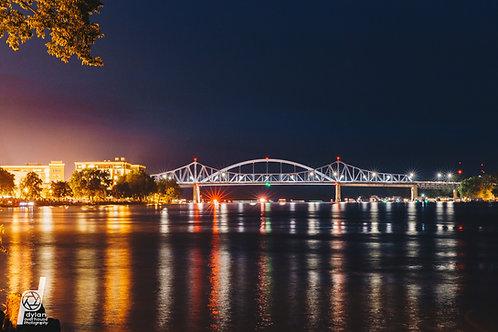 "Riverfest Bridge 12x18"" Framed"