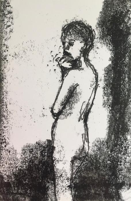 Figure (thoughtful) Monoprint