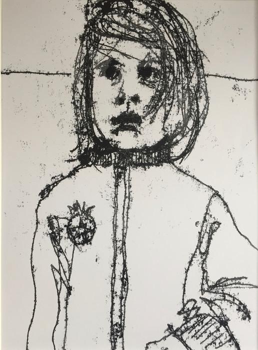 Girl Monoprint