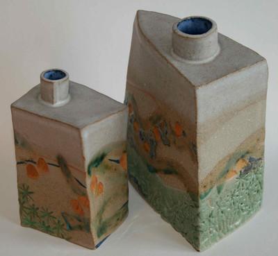 Cornish Tin Mine Bud Vase