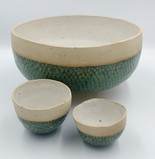 Large green fish scale bowl