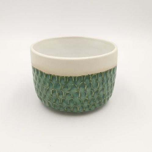 Semi - porcelain tub shaped bowl