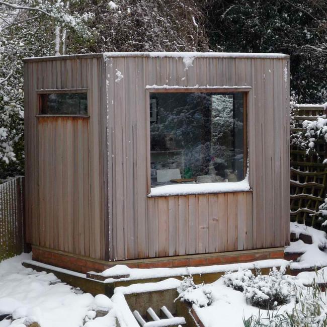 The studio in the snow!
