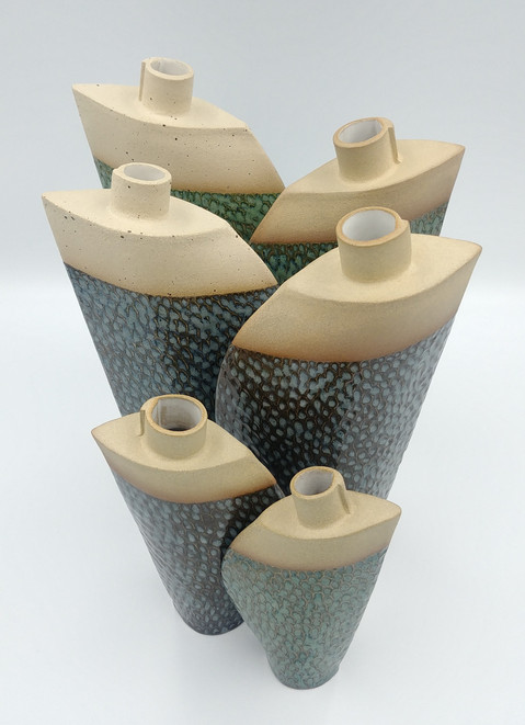 Fish Scale Design Bud vases
