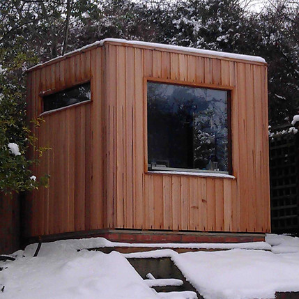 Snow covered studio!