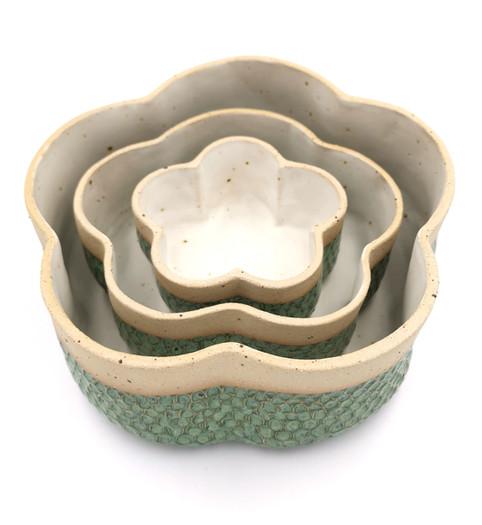 Asymmetric concentric dish set