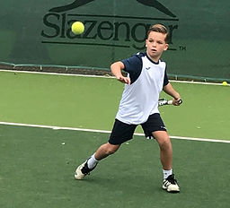 Private tennis lessons for children