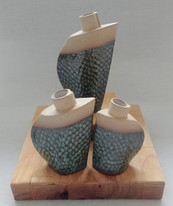Bud vase and cruet set