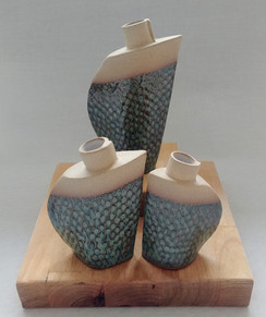 Bud Vase with a Salt and Pepper Shakers