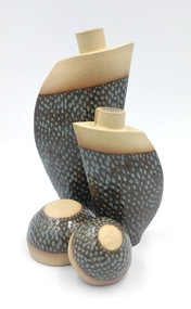 Fish Scale Vase and bowls