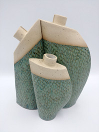 Fleckstone clay with kiwi green glaze