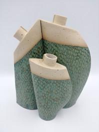 Fleckstone clay with kiwi green glaze