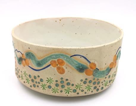 Large bowl in 'cornish design'